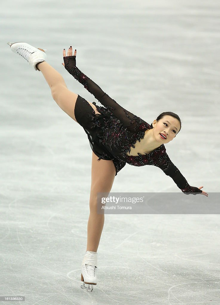 <a gi-track='captionPersonalityLinkClicked' href=/galleries/search?phrase=Christina+Gao&family=editorial&specificpeople=6719493 ng-click='$event.stopPropagation()'>Christina Gao</a> of USA competes in the Women's Free Skating during day three of the ISU Four Continents Figure Skating Championships at Osaka Municipal Central Gymnasium on February 10, 2013 in Osaka, Japan.