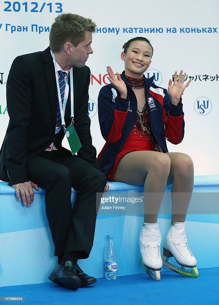 <a gi-track='captionPersonalityLinkClicked' href=/galleries/search?phrase=Christina+Gao&family=editorial&specificpeople=6719493 ng-click='$event.stopPropagation()'>Christina Gao</a> of USA thanks the fans after her performance in the Ladies Free Skating during the Grand Prix of Figure Skating Final 2012 at the Iceberg Skating Palace on December 8, 2012 in Sochi, Russia.