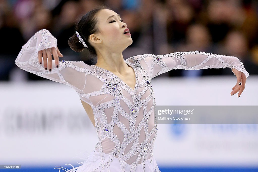 <a gi-track='captionPersonalityLinkClicked' href=/galleries/search?phrase=Christina+Gao&family=editorial&specificpeople=6719493 ng-click='$event.stopPropagation()'>Christina Gao</a> skates the ladies free skate during the Prudential U.S. Figure Skating Championships at TD Garden on January 11, 2014 in Boston, Massachusetts.