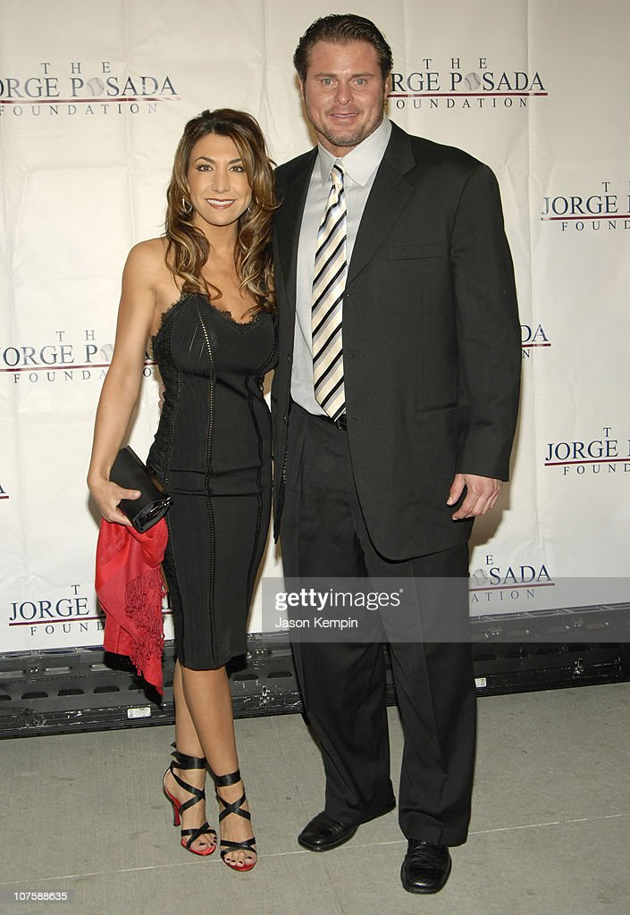 Christina Giambi and Jason Giambi during Jorge Posada Foundation Gala May 8 2006 at Cipriani's Wall Street in New York City New York