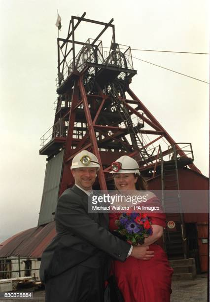 Christina Golledge and Mark Lee from Milton Keynes after their marriage at the Big Pit Mining Museum in Blaenavon South Wales The couple decided to...