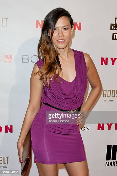Christina Grance attends the Nylon Magazine May Young Hollywood issue party at Tropicana Bar at The Hollywood Rooselvelt Hotel on May 8 2014 in...