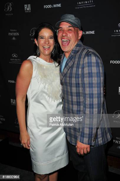 Christina Grdovic and Michael Symon attend FOOD WINE celebrates 2010 Best New Chefs at Four Seasons Restaurant NYC on April 6 2010