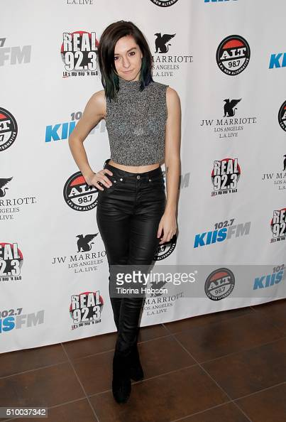 Christina Grimmie attends Alt 987 1027 KIIS FM and REAL 923's 2016 GRAMMY Awards celebration at The Mixing Room at the JW Marriot Los Angeles on...