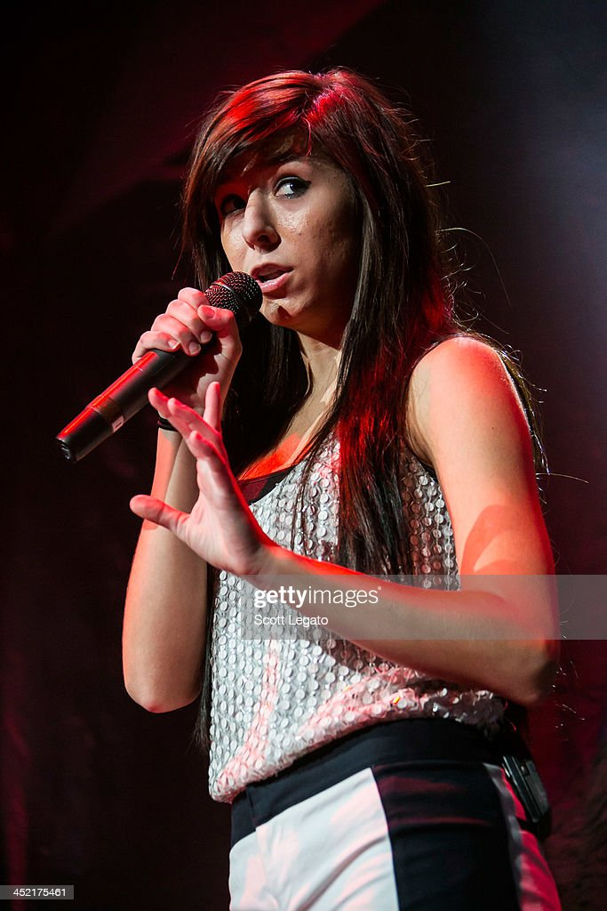 <a gi-track='captionPersonalityLinkClicked' href=/galleries/search?phrase=Christina+Grimmie&family=editorial&specificpeople=7293581 ng-click='$event.stopPropagation()'>Christina Grimmie</a> opens for Selena Gomez during the Stars Dance Tour at The Palace of Auburn Hills on November 26, 2013 in Auburn Hills, Michigan.