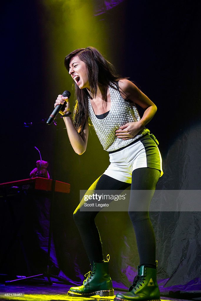 Christina Grimmie opens for Selena Gomez during the Stars Dance Tour at The Palace of Auburn Hills on November 26, 2013 in Auburn Hills, Michigan.