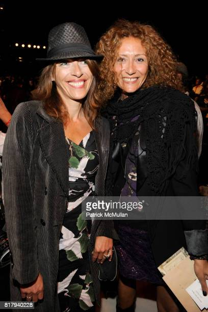 Christina Guidetti and Deborah Baker attend ANNA SUI Spring 2011 Fashion Show at The Theatre at Lincoln Center on September 15 2010 in New York City