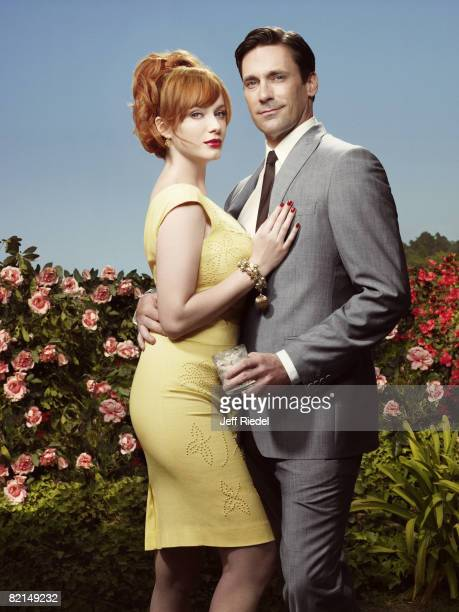 Christina Hendricks and Jon Hamm from Mad Men pose at a portrait session in Los Angeles CA Cover image