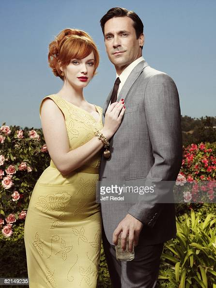 Christina Hendricks and Jon Hamm from Mad Men pose at a portrait session in Los Angeles CA