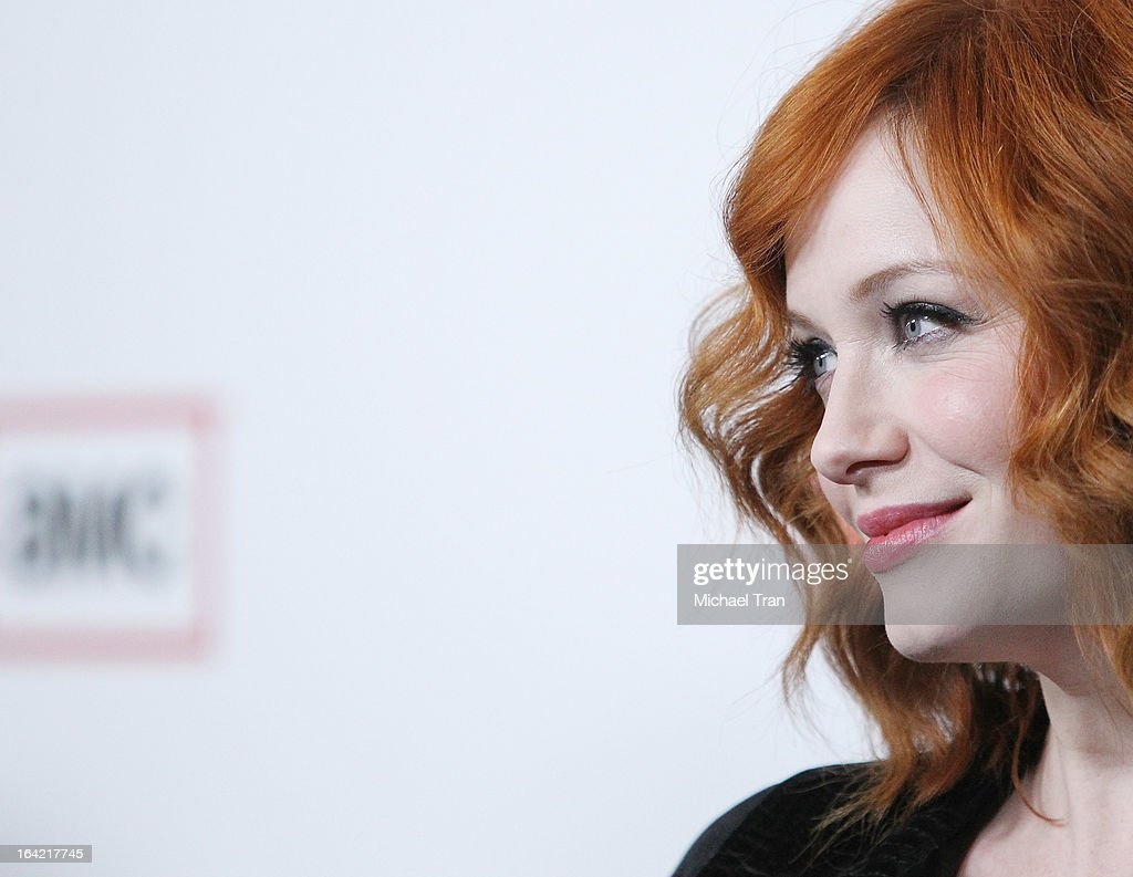<a gi-track='captionPersonalityLinkClicked' href=/galleries/search?phrase=Christina+Hendricks&family=editorial&specificpeople=2239736 ng-click='$event.stopPropagation()'>Christina Hendricks</a> arrives at AMC's 'Mad Men' season 6 premiere held at DGA Theater on March 20, 2013 in Los Angeles, California.