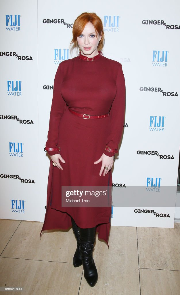 Christina Hendricks arrives at the Los Angeles special screening of 'Ginger & Rosa' held at The Paley Center for Media on November 8, 2012 in Beverly Hills, California.