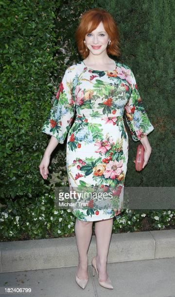 Christina Hendricks arrives at The Rape Foundation's Annual Brunch held at Ron Burkle's Green Acres Estate on September 29 2013 in Beverly Hills...
