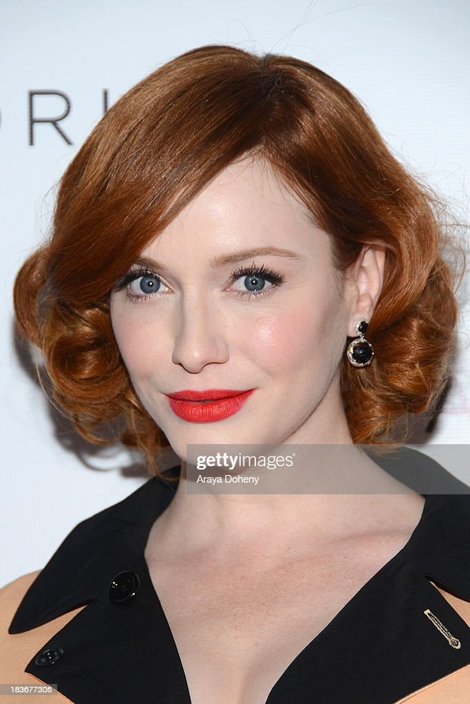 <a gi-track='captionPersonalityLinkClicked' href=/galleries/search?phrase=Christina+Hendricks&family=editorial&specificpeople=2239736 ng-click='$event.stopPropagation()'>Christina Hendricks</a> arrives at the Tacori's annual Club Tacori 2013 event at Greystone Manor Supperclub on October 8, 2013 in West Hollywood, California.