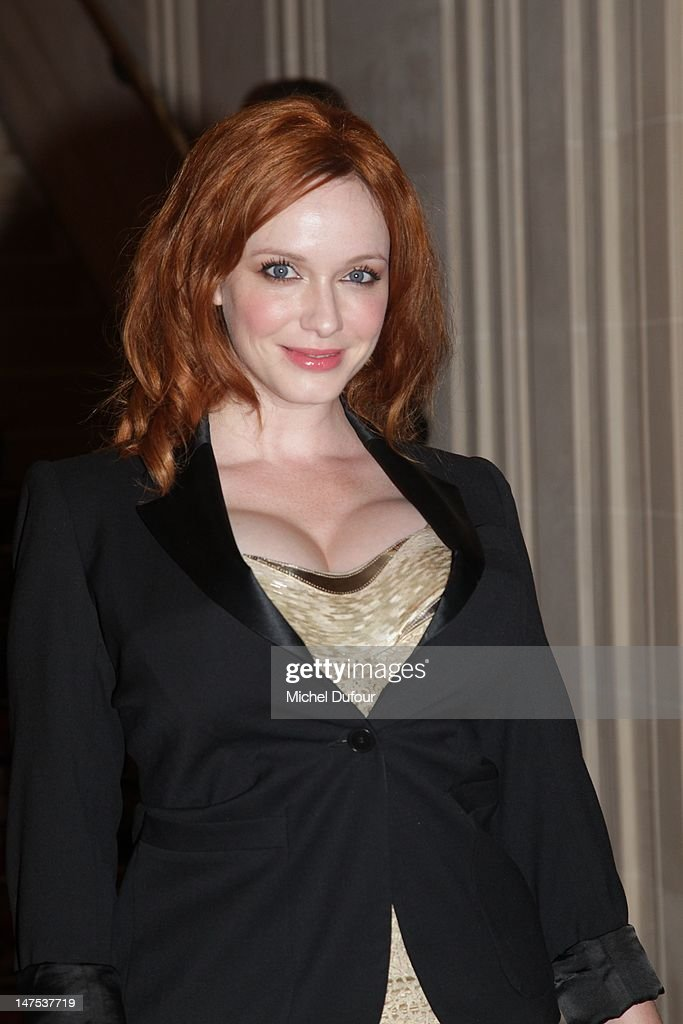 <a gi-track='captionPersonalityLinkClicked' href=/galleries/search?phrase=Christina+Hendricks&family=editorial&specificpeople=2239736 ng-click='$event.stopPropagation()'>Christina Hendricks</a> arrives the Versace Haute-Couture Show as part of Paris Fashion Week Fall / Winter 2012/13 on July 1, 2012 in Paris, France.