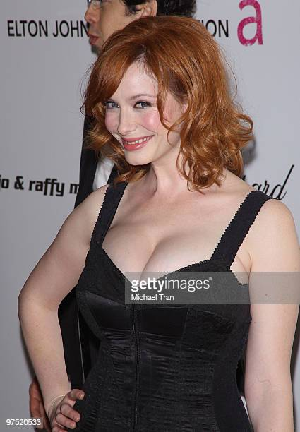 Christina Hendricks arrives to the 18th Annual Elton John AIDS Foundation Academy Awards Viewing Party held at Pacific Design Center on March 7 2010...