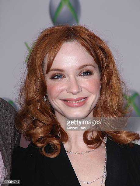 Christina Hendricks arrives to the world premiere of 'Project Natal' for Xbox 360 party held at Galen Center on June 13 2010 in Los Angeles California