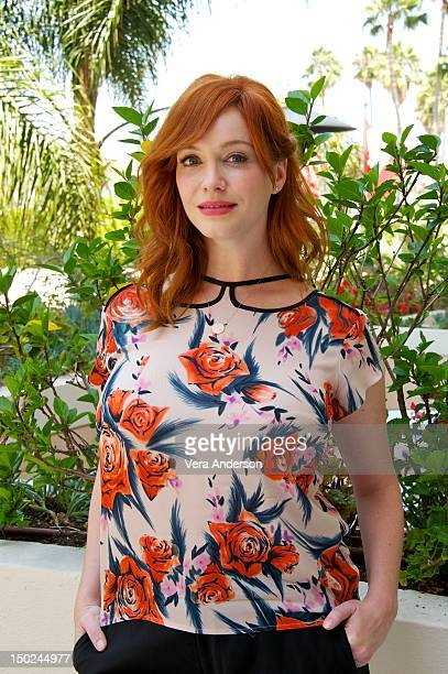 Christina Hendricks at the 'Mad Men' Press Conference at the Four Seasons Hotel on August 10 2012 in Beverly Hills California