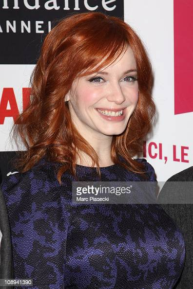 Christina Hendricks attend the 'Mad Men' photocall at Forum Des Images on February 9 2011 in Paris France