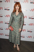 Christina Hendricks attends the 13th Annual AFI Awards Luncheon at the Four Seasons Hotel Los Angeles at Beverly Hills on January 11 2013 in Beverly...