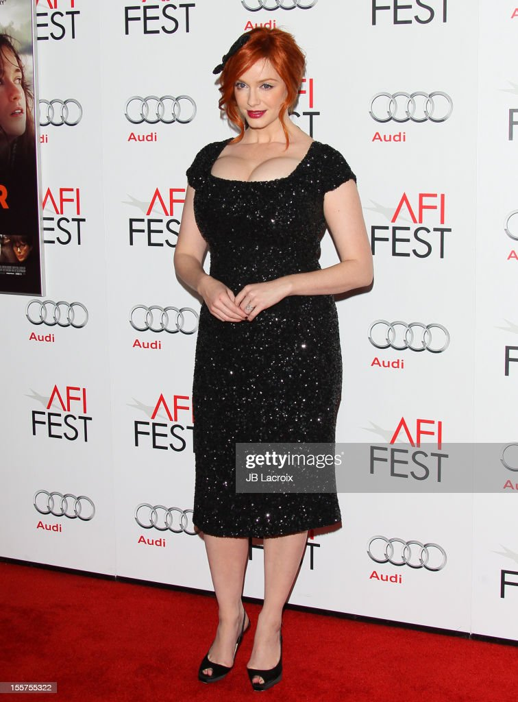 <a gi-track='captionPersonalityLinkClicked' href=/galleries/search?phrase=Christina+Hendricks&family=editorial&specificpeople=2239736 ng-click='$event.stopPropagation()'>Christina Hendricks</a> attends the 2012 AFI FEST 'Ginger & Rosa' Special Screening at Grauman's Chinese Theatre on November 7, 2012 in Hollywood, California.