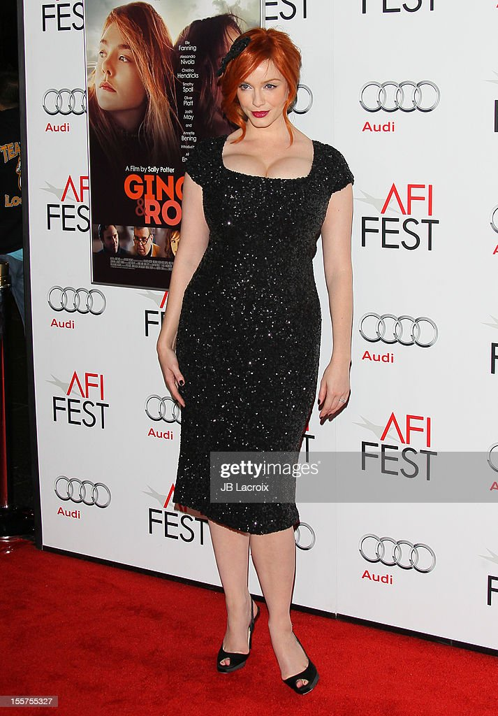 Christina Hendricks attends the 2012 AFI FEST 'Ginger & Rosa' Special Screening at Grauman's Chinese Theatre on November 7, 2012 in Hollywood, California.