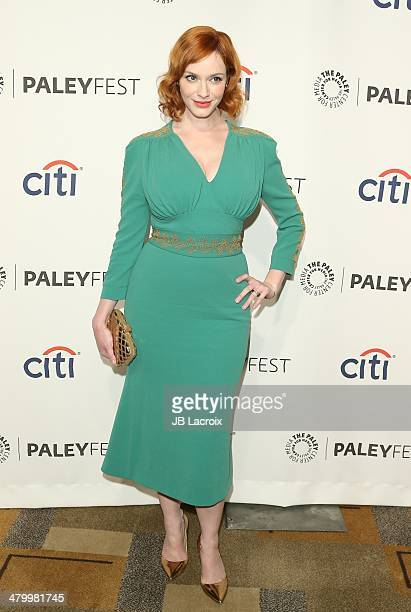 Christina Hendricks attends the 2014 PaleyFest 'Mad Men' held at Dolby Theatre on March 21 2014 in Hollywood California