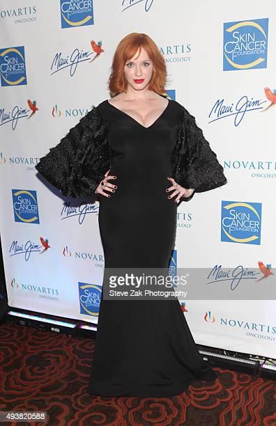 Christina Hendricks attends The 2015 Skin Cancer Foundation Gala at Mandarin Oriental New York on October 22 2015 in New York City