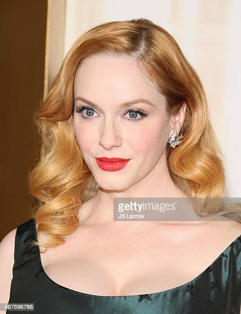 Christina Hendricks attends the AMC celebration of the final 7 episodes of 'Mad Men' with the Black Red Ball at the Dorothy Chandler Pavilion on...