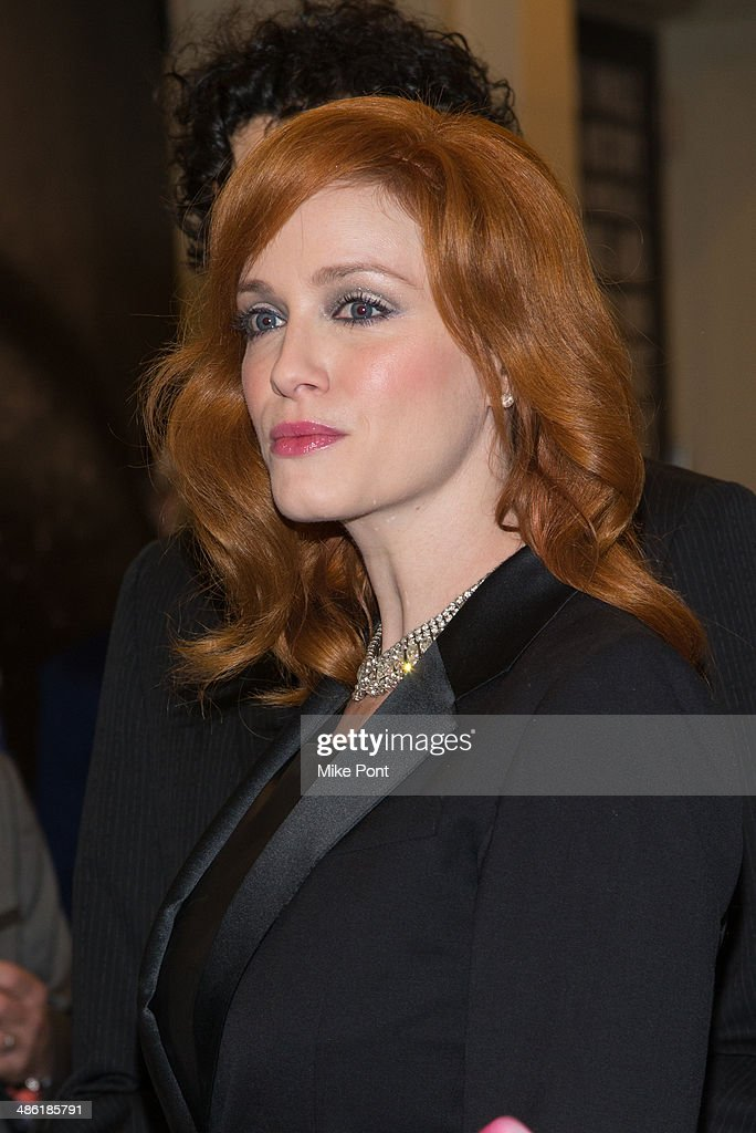 <a gi-track='captionPersonalityLinkClicked' href=/galleries/search?phrase=Christina+Hendricks&family=editorial&specificpeople=2239736 ng-click='$event.stopPropagation()'>Christina Hendricks</a> attends the Broadway opening night of 'Hedwig And The Angry Inch' at the Belasco Theatre on April 22, 2014 in New York City.