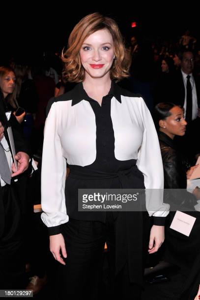 Christina Hendricks attends the Carolina Herrera fashion show during MercedesBenz Fashion Week Spring 2014 at The Theatre at Lincoln Center on...