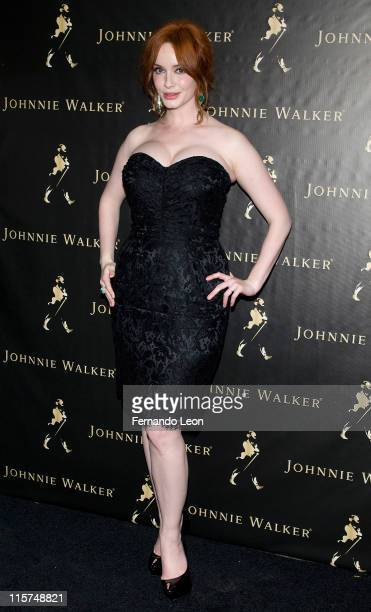 Christina Hendricks attends the Johnnie Walker Father's Day gifting event at a 632 Hudson on June 9 2011 in New York City