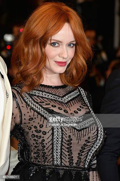Christina Hendricks attends the 'Lost River' premiere during the 67th Annual Cannes Film Festival on May 20 2014 in Cannes France