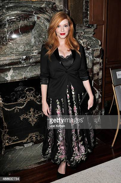 Christina Hendricks attends the Marchesa Spring 2016 fashion show during New York Fashion Week at St Regis Hotel on September 16 2015 in New York City