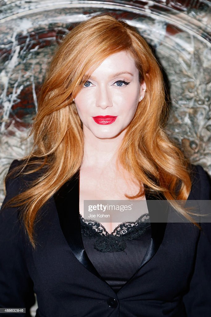 Christina Hendricks attends the Marchesa Spring 2016 fashion show during New York Fashion Week at St. Regis Hotel on September 16, 2015 in New York City.