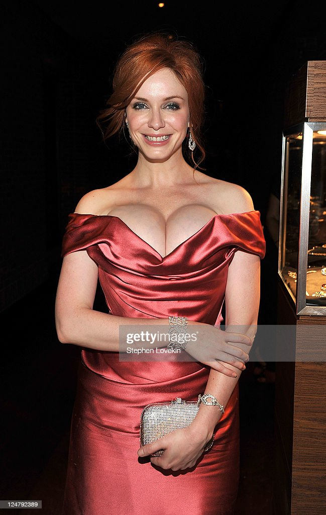Christina Hendricks attends the premiere of The Weinstein Company's 'I Don't Know How She Does It' after party sponsored by QVC Palladium Jewelry at...