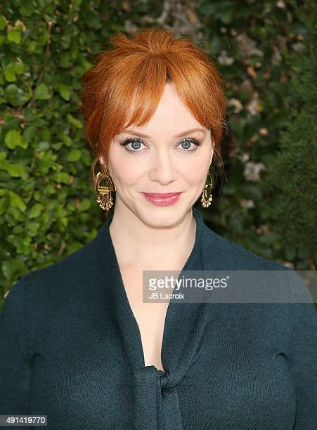 Christina Hendricks attends the Rape Foundation's Annual Brunch held at the Greenacres the private estate of Ron Burkle on October 4 2015 in Beverly...