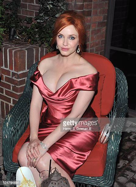 Christina Hendricks attends The Weinstein Company The Cinema Society With QVC Palladium 'I Don't Know How She Does It' premiere after party at Hudson...