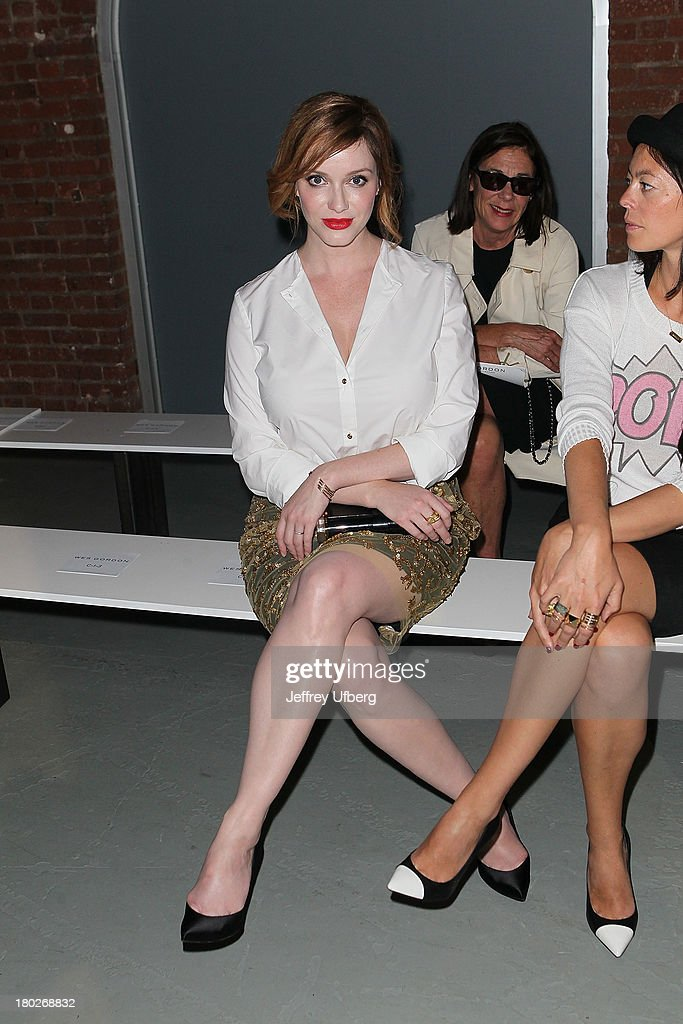 Christina Hendricks attends the Wes Gordon presentation during Spring 2014 MercedesBenz Fashion Week at Tunnel on September 10 2013 in New York City