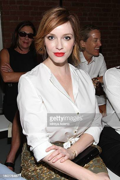 Christina Hendricks attends the Wes Gordon presentation during MercedesBenz Fashion Week Spring 2014 on September 10 2013 in New York City