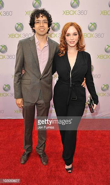 Christina Hendricks attends the world premiere of Kinect for Xbox 360 in LA where Cirque du Soleil performed an exclusive show at Galen Center on...
