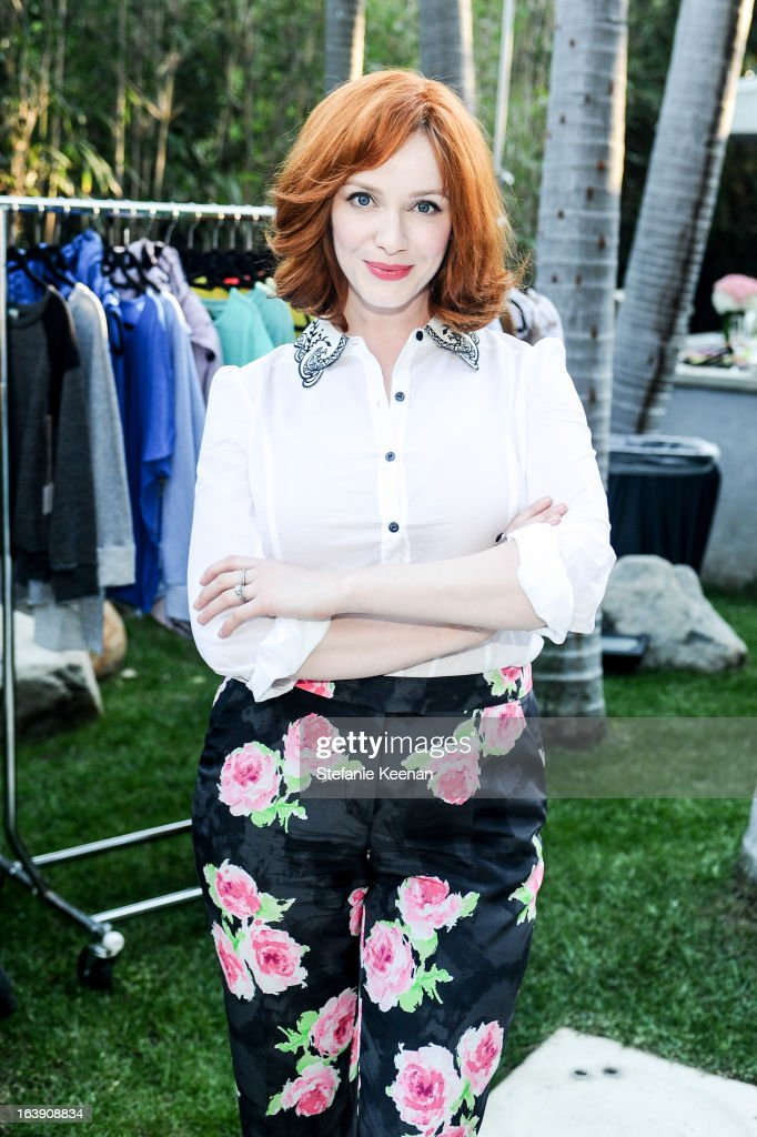 Christina Hendricks attends Theodora And Callum Cocktail Party on March 13, 2013 in Beverly Hills, California.