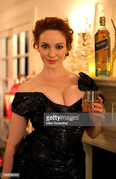 COVERAGE*** Christina Hendricks celebrates with Johnnie Walker at her annual holiday party at a private residence on December 10 2011 in Los Angeles...