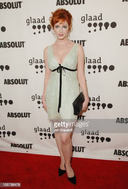 Christina Hendricks during 16th Annual GLAAD Media Awards Arrivals at Kodak Theater in Hollywood California United States