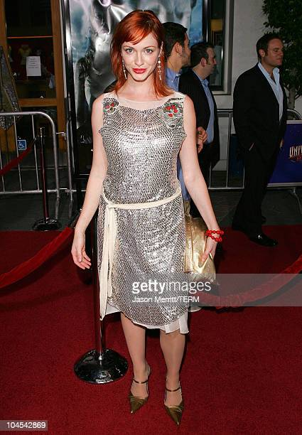 Christina Hendricks during 'Serenity' Los Angeles Premiere at Universal City Cinemas in Universal City California United States