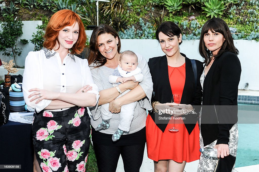 <a gi-track='captionPersonalityLinkClicked' href=/galleries/search?phrase=Christina+Hendricks&family=editorial&specificpeople=2239736 ng-click='$event.stopPropagation()'>Christina Hendricks</a>, Jodi Guber Brufsky, <a gi-track='captionPersonalityLinkClicked' href=/galleries/search?phrase=Melanie+Lynskey&family=editorial&specificpeople=887429 ng-click='$event.stopPropagation()'>Melanie Lynskey</a> and <a gi-track='captionPersonalityLinkClicked' href=/galleries/search?phrase=Clea+Duvall&family=editorial&specificpeople=1541417 ng-click='$event.stopPropagation()'>Clea Duvall</a> attend Theodora And Callum Cocktail Party on March 13, 2013 in Beverly Hills, California.