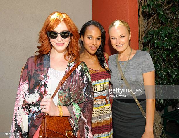 Christina Hendricks Kerry Washington and Malin Akerman attend the Jen Klein Day of Indulgence Party on August 12 2012 in Los Angeles California