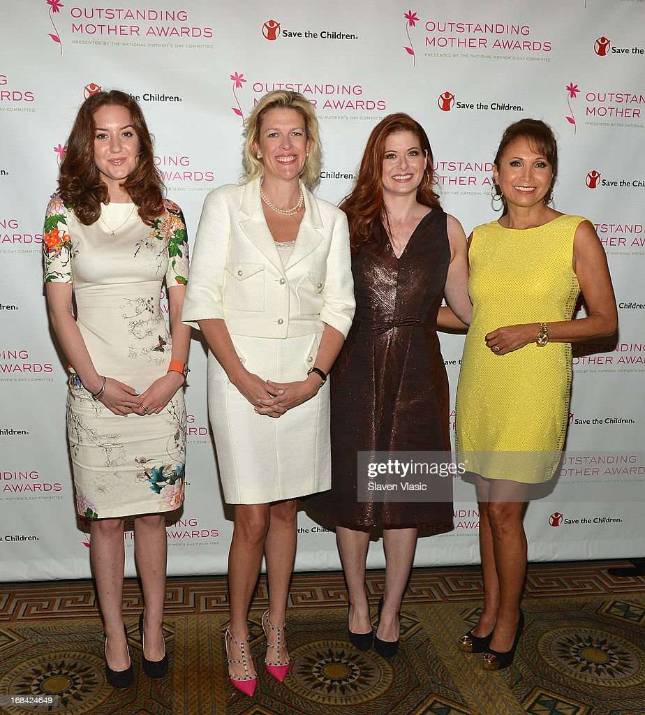 Christina Huffington and Outstanding Mother Award honorees Dottie Mattison, Debra Messing and Margarita Arriagada attend the 2013 Outstanding Mother Awards at The Pierre Hotel on May 9, 2013 in New York City.