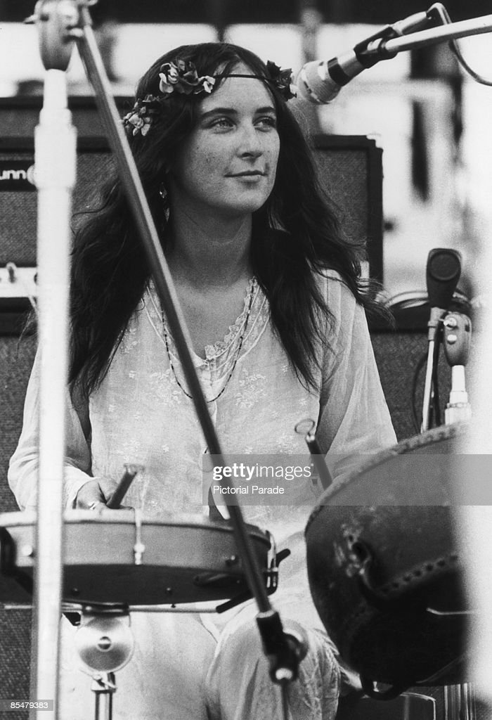 Christina 'Licorice' McKechnie of English pop group The Incredible String Band performing at the Woodstock Music Festival Bethel New York 15th August...