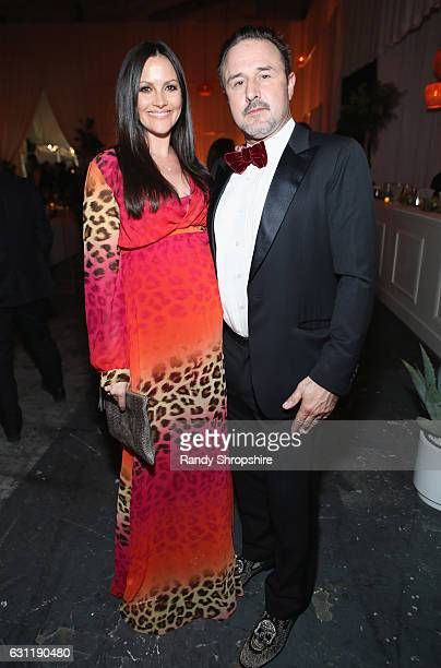 Christina McLarty and actor David Arquette attend The Art of Elysium presents Stevie Wonder's HEAVEN Celebrating the 10th Anniversary at Red Studios...