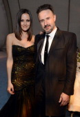 Christina McLarty and actor David Arquette attend The Art of Elysium's 6th Annual HEAVEN Gala After Party presented by Audi at 2nd Street Tunnel on...